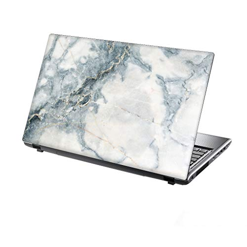 TaylorHe 13-14 inch Laptop Skin Vinyl Decal with Colorful Patterns and Leather Effect Laminate MADE IN BRITAIN Stunning Marble