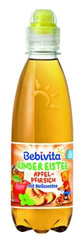 Bebivita Kinder-Getränke Eistee Apfel, Pfirsich, Melissen Tee, 6er Pack (6 x 300 ml)