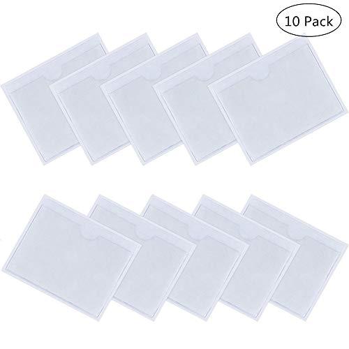Yongbest Parkscheinhalter,10 Stück Parkschein Selbstklebende Halter Plastik Karten Hülle für Pkw-Parkausweis-Ausweise Pässe 10 * 8 cm