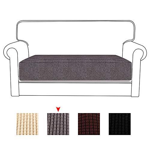 78Henstridge Funda de cojín de sofá de Tela de poliéster elástica para sofá (Gris, 2 Asientos)