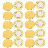 INVENTO 20Pcs 27 MM Piezo Ceramic Elements Sounder Sensor Trigger Drum Disc Piezoelectric Buzzer Copper For DIY