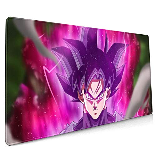 Extended Mouse Pad - Dragon Ball Goku Black XXL Gaming Computer Mousepad 35.43 X 15.75 X 0.12inch