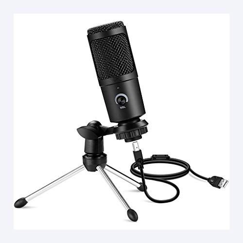 ZNBJJWCP Micrófono USB Micrófonos con Condensador Profesional para computadora PC Portátil Grabación Estudio Singing Gaming Streaming