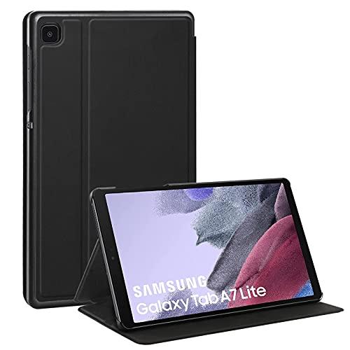 SROSSTEC Hülle Kompatibel mit Samsung Galaxy Tab A7 Lite 2021, Ultra Slim mit Standfunktion PU Leder Smart Hülle Cover Schutzhülle für Samsung Tab A7 Lite 8,7 Zoll (T220/T225), Schwarz
