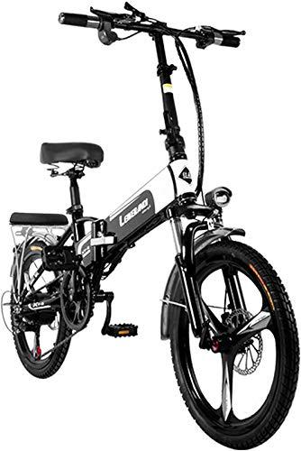 Bicicletas Eléctricas, Bicicletas eléctricas para adultos 20 'Bicicleta eléctrica plegable de neumáticos con motor 350W y extraíble 48V 12.5AH batería de litio de litio 7 velocidades E-bicicleta al al