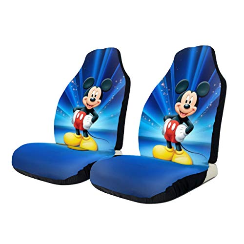 Heavenly Battle Mickey Mouse Car Seat Covers Accessories Set Super Soft Vehicle Seat Decoration Protector Cover Bag 2 Pieces Set