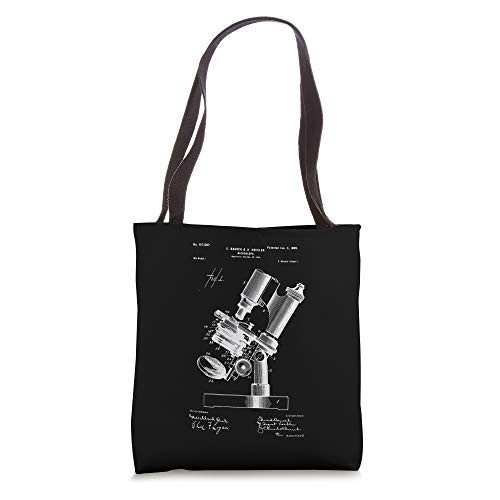 Microscope Microscopy Lover retro Science Microbiology Tote Bag