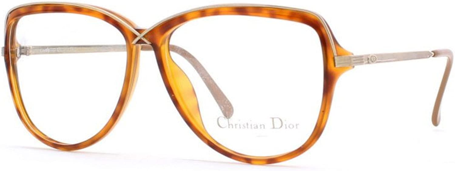 Christian Dior 2530 10 Brown Authentic Women Vintage Eyeglasses Frame