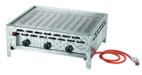 Activa 3-flammiger Gastrobräter mit Grillrost, Silber