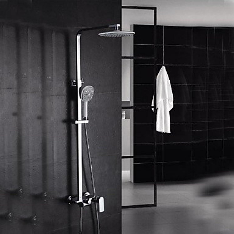 ZULUX Tmaker- zeitgenssische Wasserfall Badewanne Dusche Wasserhahn mit 8-Zoll-Duschkopf mit Handbrause