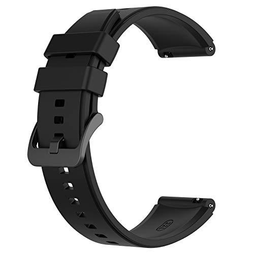 AWADUO - Correa de repuesto de silicona para Huawei Watch GT2 Pro, suave y duradera (silicona negra)