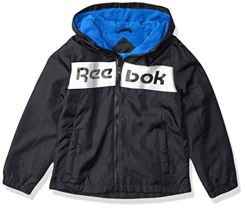 Reebok BOY Med Weight Jacket, 06A BLACK/WHITE, 10-12