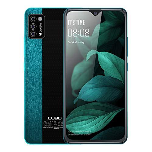 "Unlocked Smartphones, CUBOT Note 7 Android 10, 4G Dual SIM Unlocked Cell Phones, 5.5"" HD Display, Triple Cameras, 2GB/16GB, 128GB Extension, 3100mAh Battery, US Version,Green"