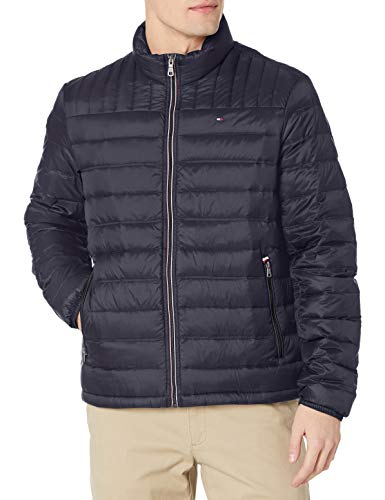 Tommy Hilfiger Men's Real Down Insulated Packable Puffer Jacket, Night Sky, Large