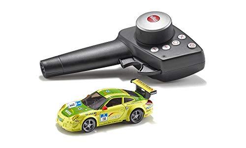 SIKU 6822, Porsche 911 GT3 RSR, Ferngesteuertes Spielzeugauto, 1:43, Gelb/Grün, Metall/Kunststoff, Inkl. Fernsteuermodul und Akku
