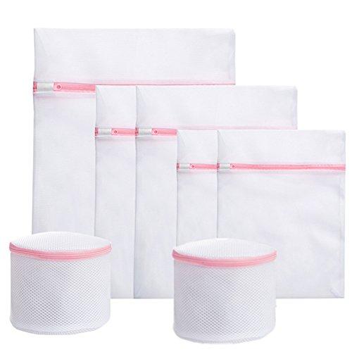 uniquQ Lot de 7 sacs à linge pour machine à laver - Pour soutiens-gorge, sous-vêtements, collants, pulls, etc.