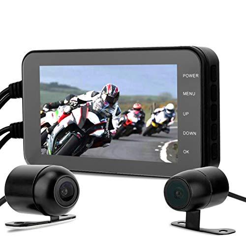 DVR profesional para motocicleta, nueva cámara de visión trasera con cámara de doble lente impermeable para video 1080P para motocicleta