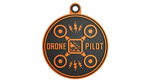Hazard 4 Drone Pilot Rubber Patch - Orange