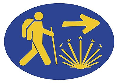 Jakobsweg Sticker Oval Pilger
