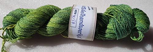 Handgefärbte 4-fach Sockenwolle mit Baumwolle