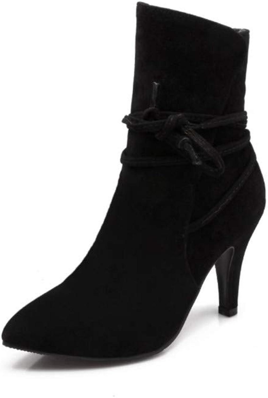 YSFU Stiefel Damen Damen Damen Stiefeletten Volltonfarbe Mode Freizeitschuhe Damen Stiefelies Stöckel Absatz Herbst Winter Outdoor  0e30bd