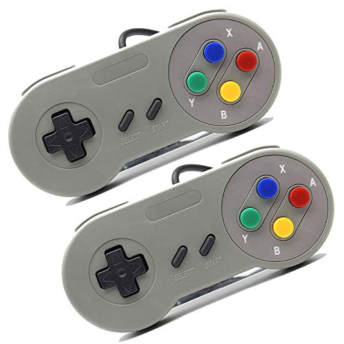 Luxtech Juegos Pack 2 Gamepad USB para Raspberry Pi 3 Arcade Joystick Gamer Retropié SNES Consola de Juegos para Windows...