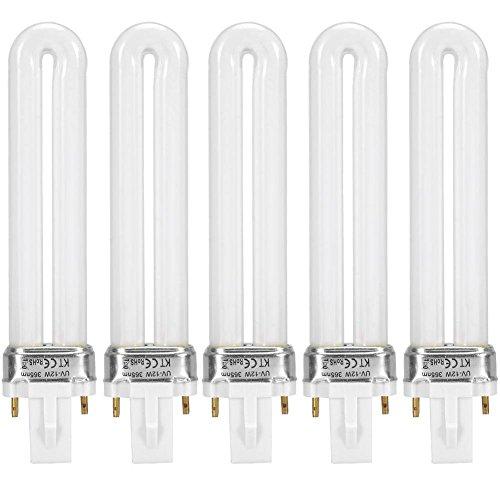UV Röhren für Tragbare LED Nagellampe, 5 Stücke 12 W Professionelle UV Nagel Trockner Aushärtung Lichtschlauch Maniküre Werkzeug Ersatz U Form UV Lampe