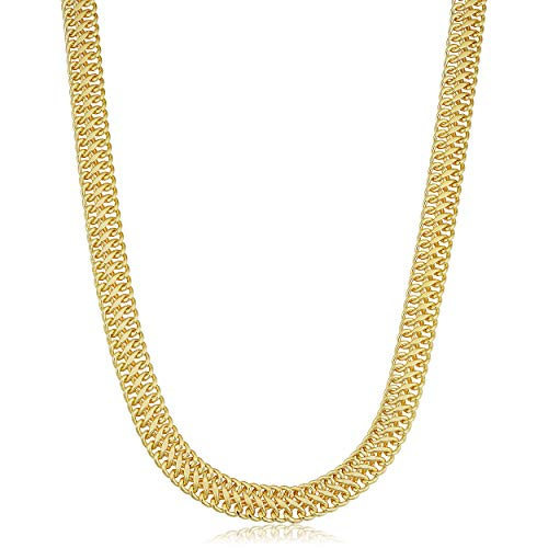 14k Yellow Gold Filled 7.5 mm Saduza Necklace Statement Jewelry for Women