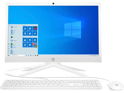 HP All in One PC 20.7-inch(52.6 cm) FHD with Alexa Built-in (Dual Core Intel Celeron J4025/4GB/1TB HDD/Win 10/MS Office 2019/USB Wired Keyboard & Mouse), 21-b0707in