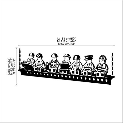 Cartoon Robot Lego Wall Sticker Adesivi Murali In Vinile Per Camera Dei Bambini Decalcomanie Di Arte Della Parete Della Camera Dei Ragazzi Accessori Per Camerette Per Bambini Decor