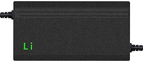 CRMY Cargador de batería para Scooter eléctrico de Iones de Litio de 42.0V y 3A, Adaptador de Corriente, Cargador de batería de Litio para Bicicleta eléctrica, Carga rápida, protección de Temperatura