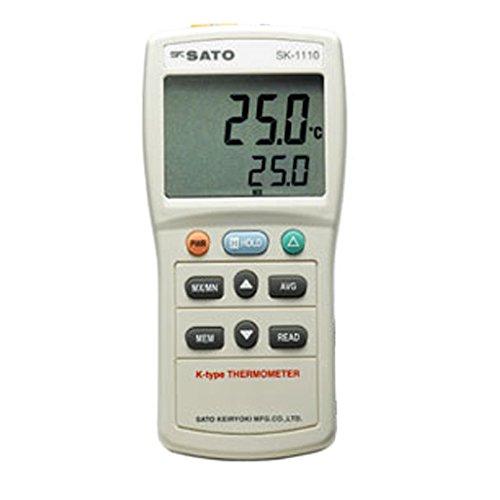 佐藤 デジタル温度計 SK-1110 指示計のみ 801403