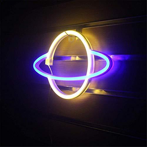 USB LED Planet Neon Light Soft Night Light Party Suministros para la decoración de la barra casera