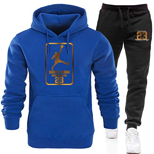 2021 Jordan 23# Mens Basketball Chándales Set, Jordan New Basketball Sudaderas Sudaderas Pantalones Sportswear, Casual Gym Sports Running Training Sudaderas y pantalones 5-L