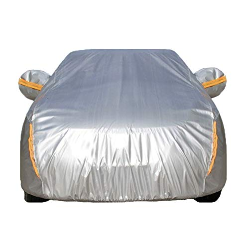 Cubierta de coche Compatible con Peugeot RCZ 408 508 206 207 307 407 607 Universal Impermeable A prueba de viento Polvo a prueba de polvo Cubiertas completas ( Color : Silver , Size : 407 )