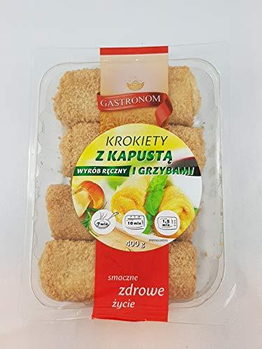 3 Packungen je 400g Handgemachte Polnische Kroketten mit Sauerkraut und Pilzen / Krokiety z Kapusta i Grzybami