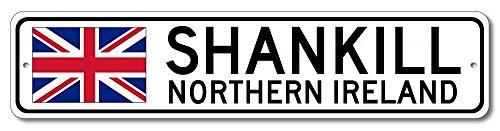 Shankill Noord-Ierland Ierse Vlag Teken Noord-Ierland Aangepaste Vlag Teken Metalen Tekenen Vrouwen Novelty Tin Teken Binnen Buiten