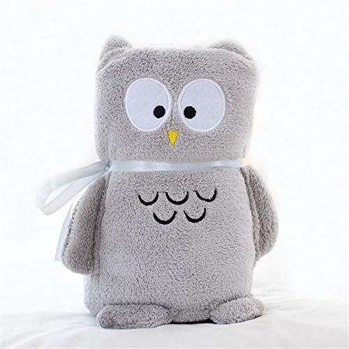 Kid Toddler Swaddle Belle Cartoon Animal Coral Fleece Couverture De Bébé Doux Literie Couette Infantile Enfants Maison Sac De Couchage,Hibou