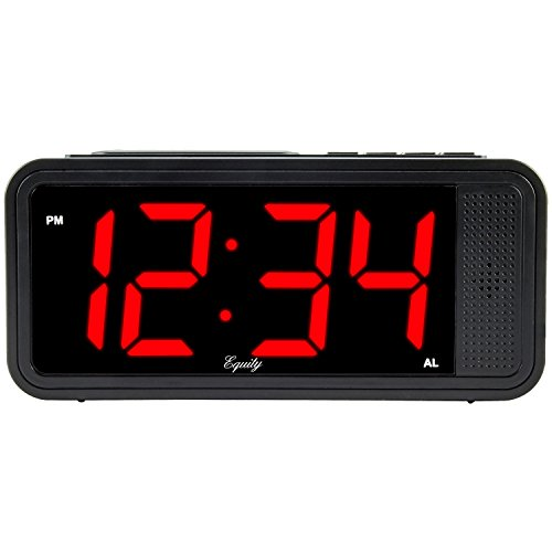 Equity by La Crosse 75907 1.8' LED Simple Set Alarm Clock with Hi/Low Dimmer