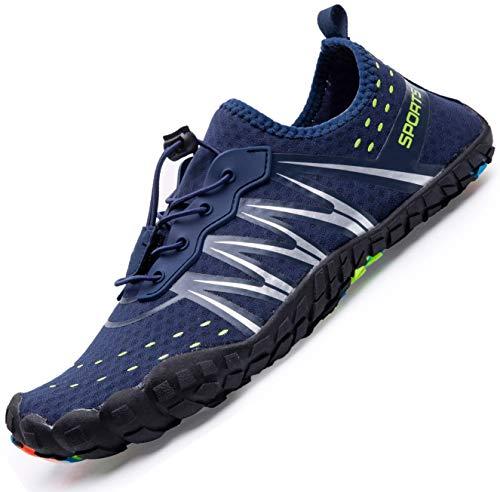 Mens Women Water Sport Shoes Barefoot Quick-Dry Aqua Socks for Beach Swim Surf Yoga Exercise, 14.5 M...