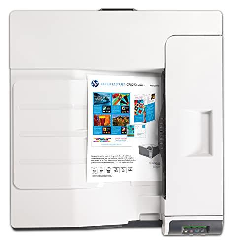 HP Color Laserjet Enterprise CP5225DN (CE712A) A3 Farblaserdrucker (Duplex, LAN, USB, 600 x 600 dpi) schwarz/weiß