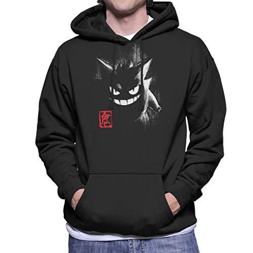 Cloud City 7 Gengar Ink Men's Hooded Sweatshirt Black