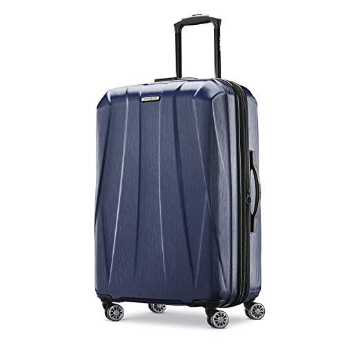 Samsonite Centric 2 Hardside Expandable Luggage with Spinner Wheels, True Navy, Checked-Large 28-Inch