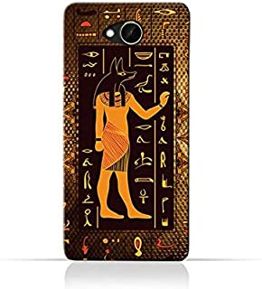 HTC Desire 10 Compact TPU Silicone Case with Egyptian Hieroglyphs Pattern