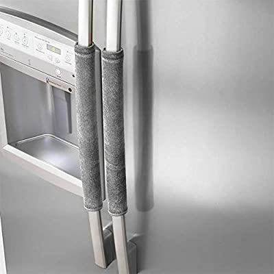 Hoocozi 4PCS?2 Set? Refrigerator Door Handle Covers Refrigerator Gloves Oven Cover Kitchen Appliance Handle Covers Protector for Ovens, Dishwashers,Fridge