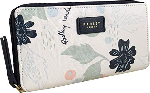 Radley Painterly Floral Large Zip Around Purse
