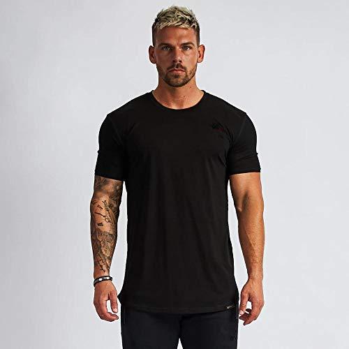 MedusaABCZeus Atmungsaktives Tank T-Shirt,Fitness Kurzarm, Laufen T-Shirt-schwarz_XL,Herren Shirt Uv Schutz