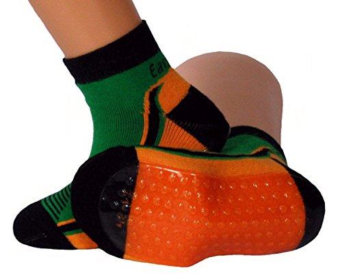 Shimasocks Kinder Damen Beach Socken Wattwandersocken grün/orange, Farben alle:grün, Größe:35/38