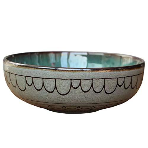 NO BRAND Inicio vajilla 6.29in Ensalada Tazón de cerámica de época vajilla rústica for Ensalada Restaurante Fruta de la Cocina Sopa de Fideos