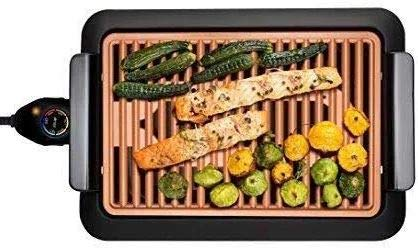 Deluxe Gotham Grill Gotham Steel Smokeless Electric Grill, Portable and Nonstick As Seen On TV EXTRA LARGE 18 Inch Party Size